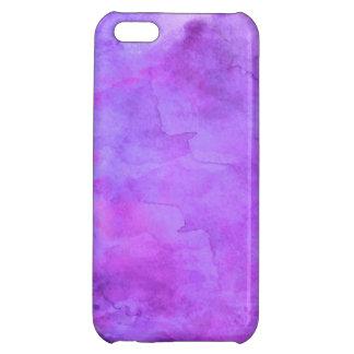 Violet Purple Blue Watercolor Texture Pattern iPhone 5C Cases