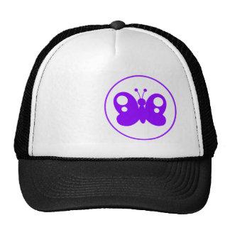 Violet Purple Butterfly Hats