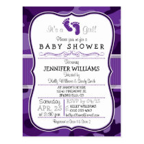 Violet Purple Camo, Camouflage Baby Shower Postcard