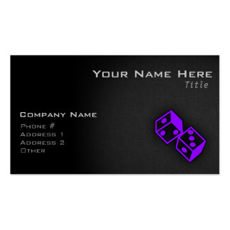 Violet Purple Casino Dice Double-Sided Standard Business Cards (Pack Of 100)