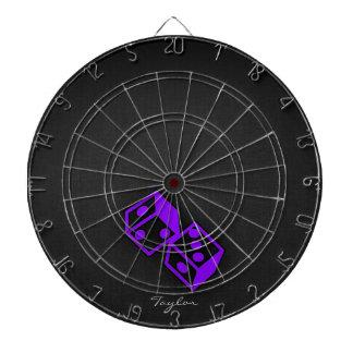Violet Purple Casino Dice Dart Boards
