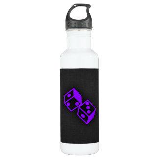 Violet Purple Casino Dice Water Bottle