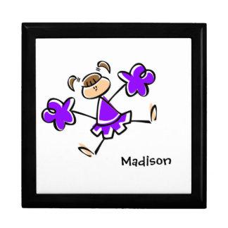 Violet Purple Cheerleader Keepsake Box