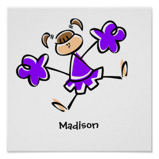 Violet Purple Cheerleader Poster