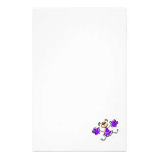 Violet Purple Cheerleader Stationery