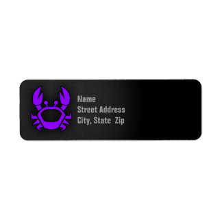 Violet Purple Crab Label