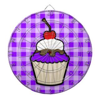 Violet Purple Cupcake Dartboard