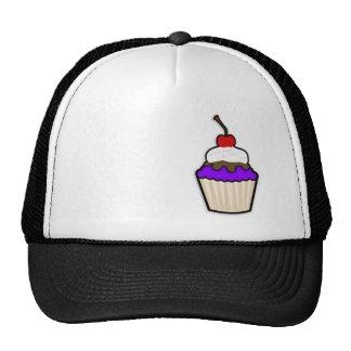 Violet Purple Cupcake Mesh Hats