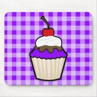 Violet Purple Cupcake Mouse Pad