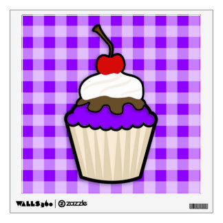 Violet Purple Cupcake Room Stickers
