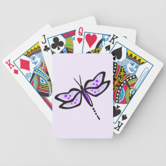 Violet Purple Dragonfly Bicycle Playing Cards