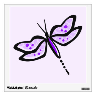 Violet Purple Dragonfly Wall Sticker