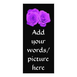 """Violet/Purple """"Enameled"""" Roses Full Color Rack Card"""