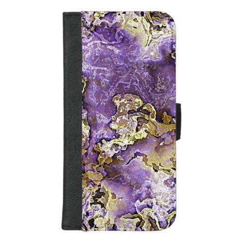 Violet Purple Faux Gold Minerals Agate Art Pattern Phone Case