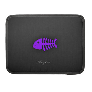 Violet Purple Fish Bones Sleeve For MacBook Pro