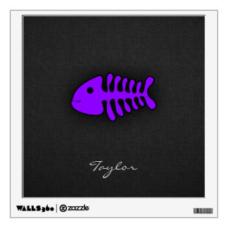 Violet Purple Fish Bones Wall Sticker