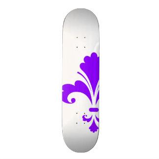 Violet Purple Fleur-de-lis Skate Board Deck