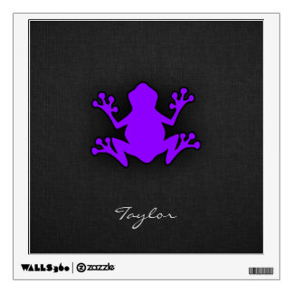 Violet Purple Frog Wall Decal