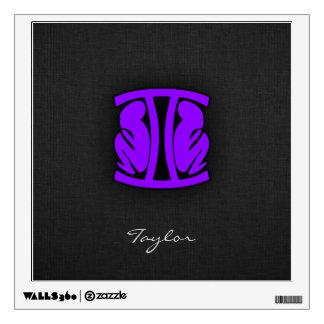 Violet Purple Gemini Wall Sticker