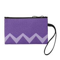 Violet / Purple Glimmer Zig Zag Wristlet