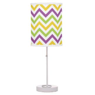 Violet Purple, Green, and Yellow Chevron Stripes Lamp