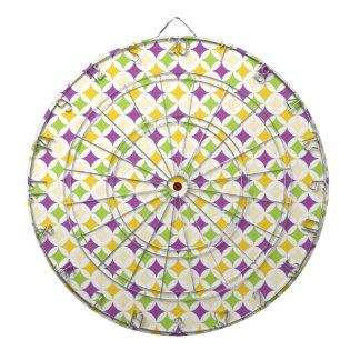 Violet Purple, Green, and Yellow Diamonds Dart Boards