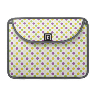 Violet Purple, Green, and Yellow Polks Dots MacBook Pro Sleeve