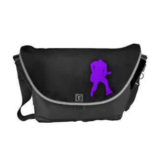 Violet Purple Guitar Player Courier Bag