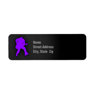 Violet Purple Guitar Player Label