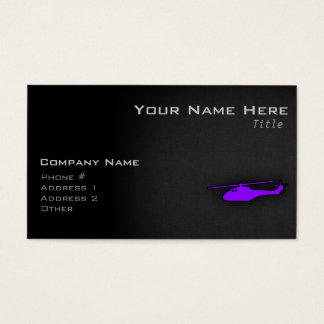 Violet Purple Helicopter Business Card