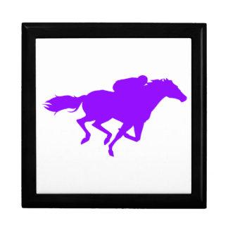 Violet Purple Horse Racing Trinket Box
