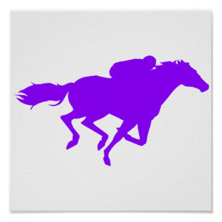 Violet Purple Horse Racing Poster