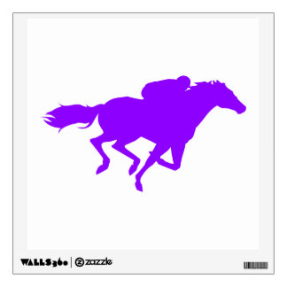 Violet Purple Horse Racing Wall Sticker