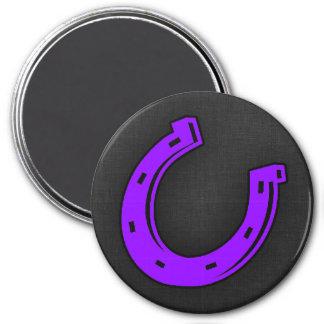 Violet Purple Horse shoe Magnets
