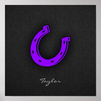 Violet Purple Horse shoe Posters