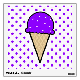 Violet Purple Ice Cream Cone Wall Decal
