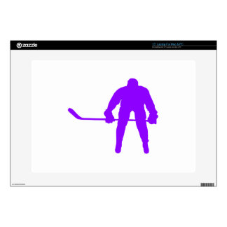 Violet Purple Ice Hockey Skins For Laptops