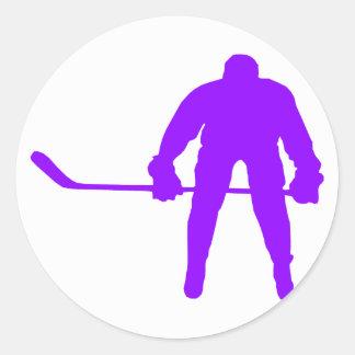 Violet Purple Ice Hockey Sticker