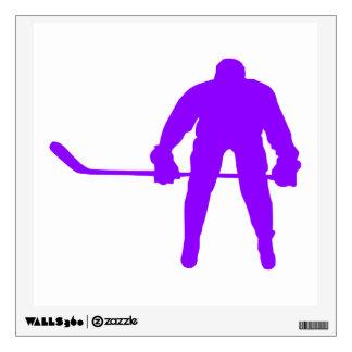 Violet Purple Ice Hockey Wall Decal