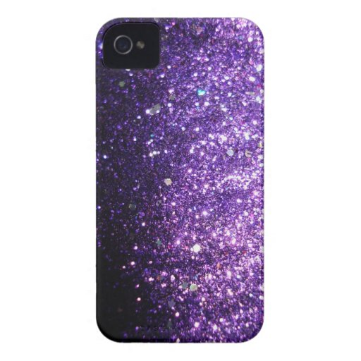 Violet Purple iPhone Sparkle Glitter Case iPhone 4 Covers