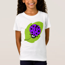 Violet Purple Ladybug T-Shirt