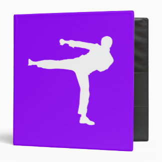 Violet Purple Martial Arts 3 Ring Binder