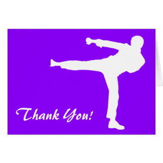Violet Purple Martial Arts Card