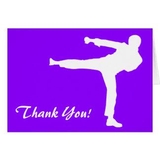 Violet Purple Martial Arts Card