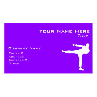 Violet Purple Martial Arts Double-Sided Standard Business Cards (Pack Of 100)