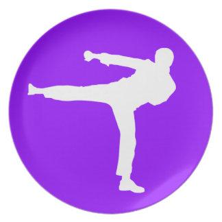 Violet Purple Martial Arts Party Plates