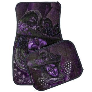 Violet Purple Masquerade Carnival Mask Car Mats Car Mat