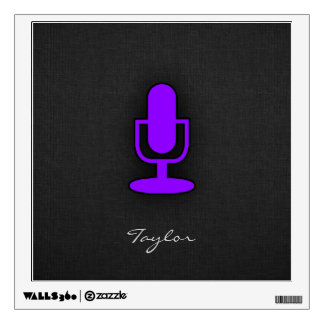 Violet Purple Microphone Wall Sticker