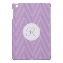 Violet Purple Monogram Thin Chevron Pattern Case For The iPad Mini