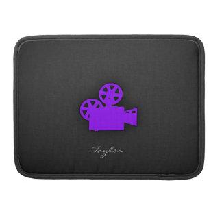 Violet Purple Movie Camera MacBook Pro Sleeve